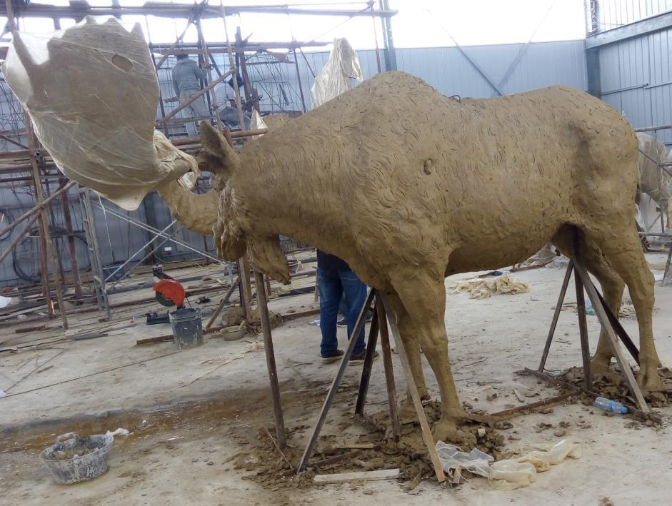 78 Pulgadas Tall Bronce De Tamaño Natural Alces Estatua - Buy ...