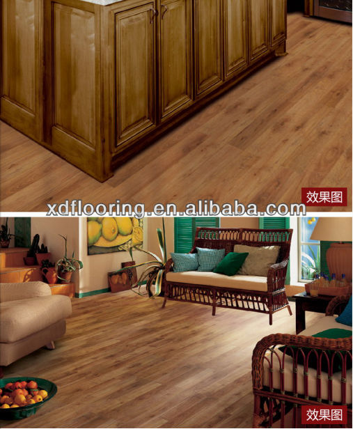 very popular hdf wooden laminated flooring