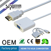 SIPU high speed vga to hdmi converter best price hdmi to vga converter wholesale vga adapter for ipad
