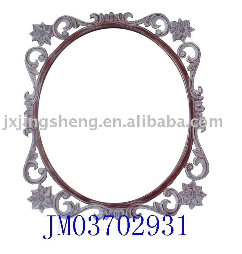 Wooden carved Wall hanging mirror frame