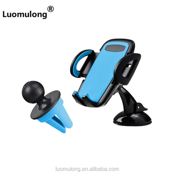 New product portable 2 in 1 suction cup air vent mount car phone holder