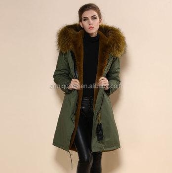 37aaee11730f8 Invierno abrigo MS y Mr piel Vestido de manga larga de piel de imitación  color verde