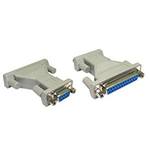 Kenable 9 Pin Serial Female to 25 Pin Serial Female Adapter Converter