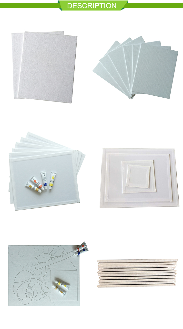 Art supplies blank stretched quality canvas art