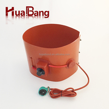 silicone rubber heater for medicament-making device