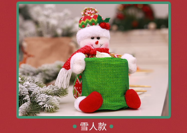 Wholesales Home Decoration Table Funny Tissue Paper Box Creative for Christmas the Santa Claus Tissue boxes for Hotel