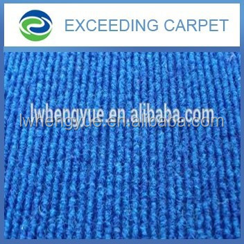 Dedusting and anti-slip commercial striped carpet blue