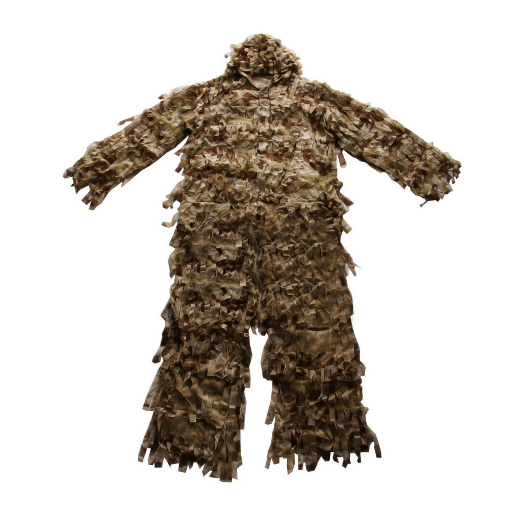 3-D Ghillie Suit Premium Hunting Net Camo Suit Camouflage Clothing Double The Leaf Suit Ghillie Suit