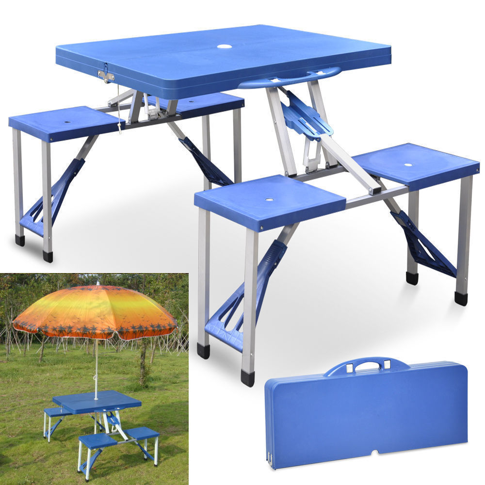 portable folding table tops picnic camping outdoor plastic aluminum sheet dining 4