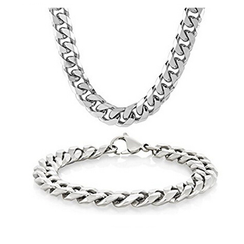 Yiwu Meise Stainless Steel Wheat Chain Necklace For Men Women Necklace Bracelet Set