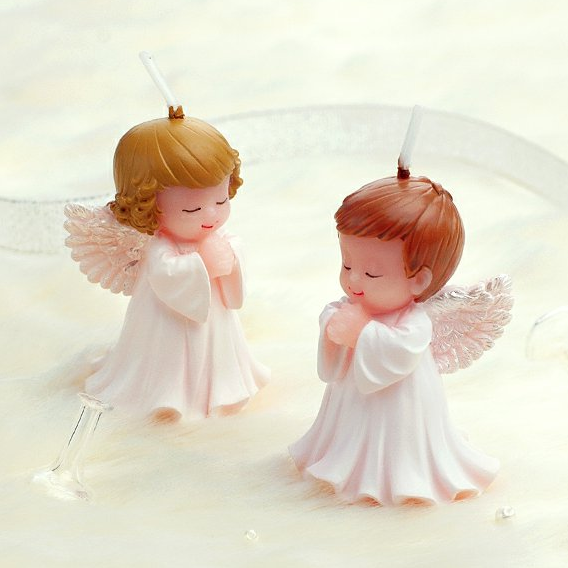 angel shaped cake birthday girl boy baby shower scented candle favors promotion gift
