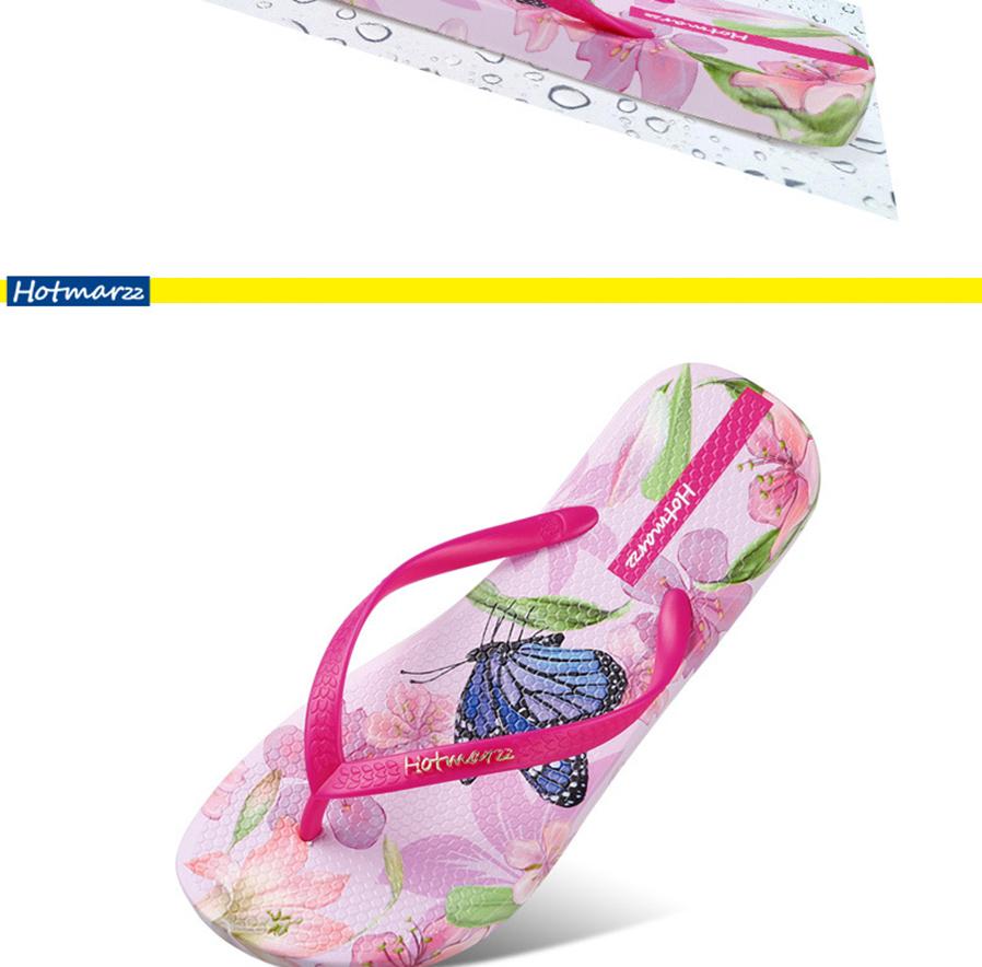 ae70b2d3983880 Hotmarzz Summer Women Print Flower Flip Flops Bohemia Beach Sandals ...