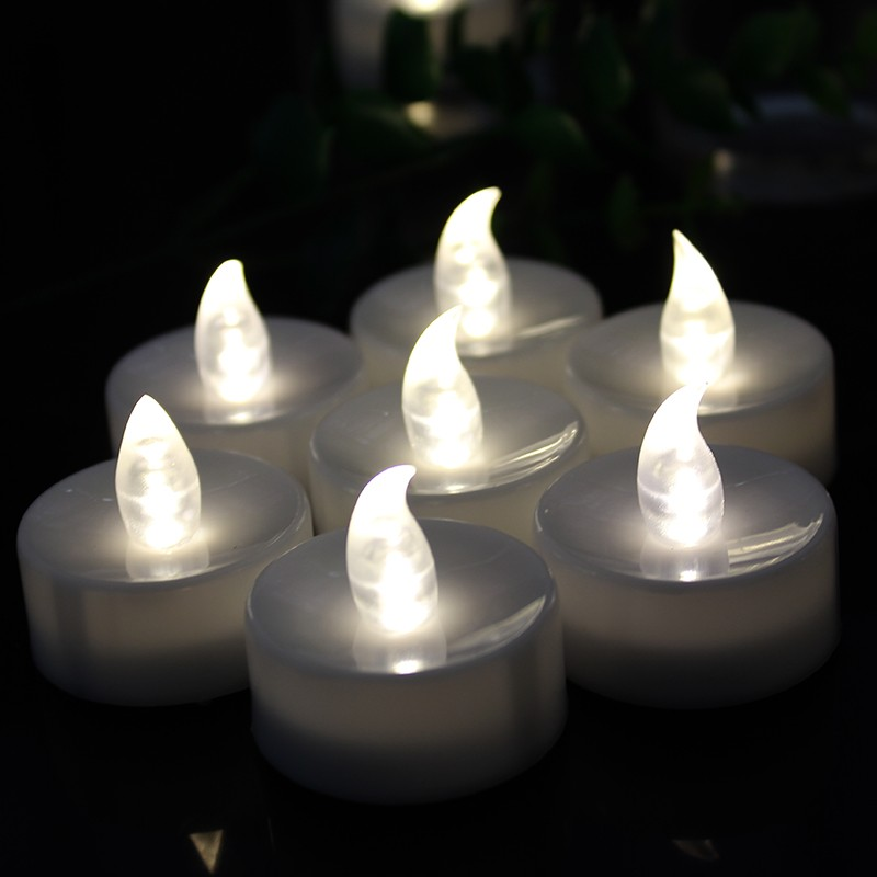 Hot sale battery operated plastic led tealight candle for adult student
