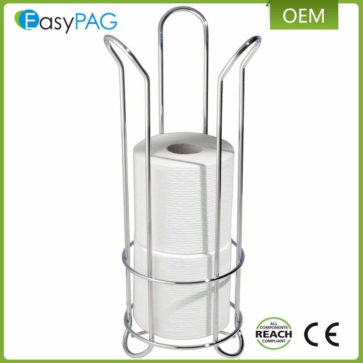 easypag industrielle bad lagerung freistehende toilettenpapierhalter - Freistehender Toilettenpapierhalter Mit Lagerung