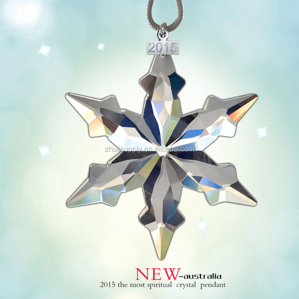 PuJiang JULEE <strong>Crystal</strong> manufacturer 2015 Christmas wholesale <strong>crystal</strong> ornaments
