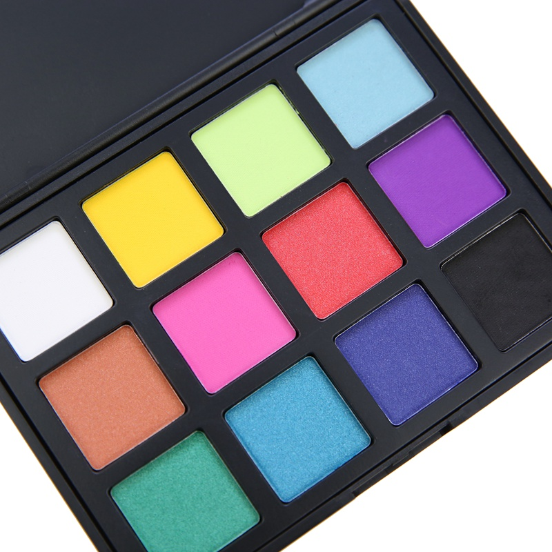 High pigment eyeshadow pallet private label 12 color eyeshadow palette