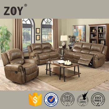 China brown fabric leather sofa living room furniture sofa set design ZOY 9750A
