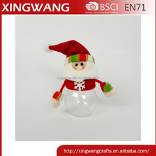 Promotion plush santa candy jar cheap christmas products xmas decoration