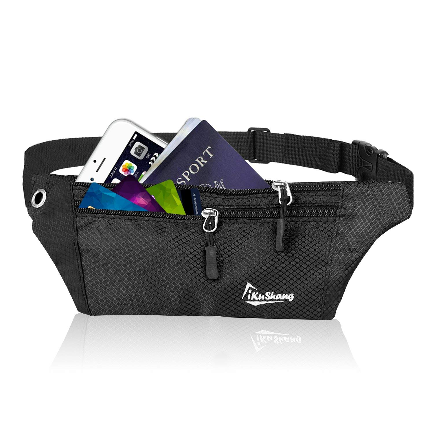 d174baa7ffb Get Quotations · iKuShang Fanny Pack Waist Pack Running Belt Fanny Packs  for Women Water Resistant Fanny Pack with