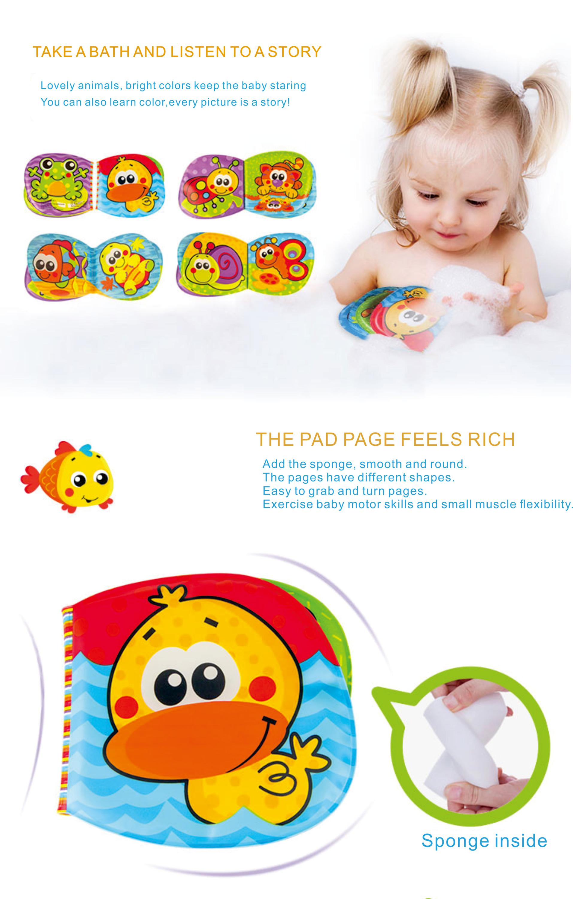 Children Learning Books Waterproof Eva Baby Soft Plastic Bath Book
