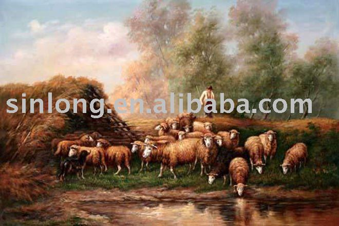 handpainted animal oil painting
