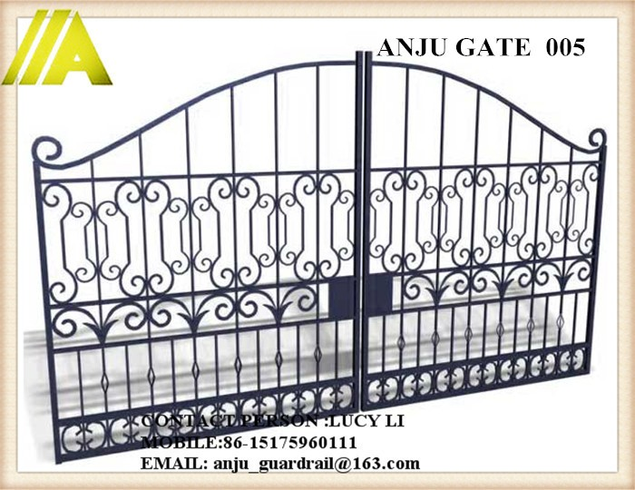 Anju Steel Gate-005 2016 Sliding Gate Designs For Home/villa/school ...