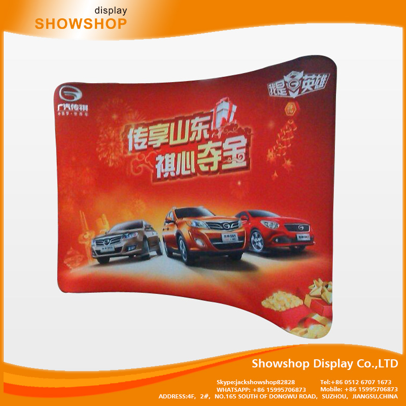 Fast supplier China commercial fabric tension show display stands