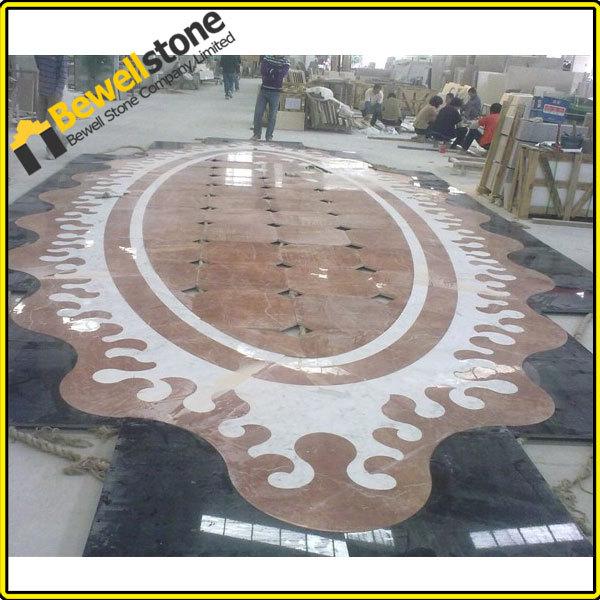 luxury design project geometric patterns waterjet stone tile for