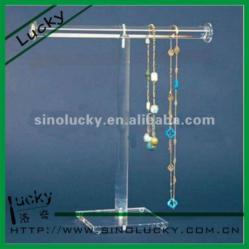T-shape Acrylic Necklace Display Stand