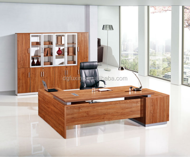 Contemporary Modern Executive Desk Luxury Office Furniture Office Desk  Beige Color