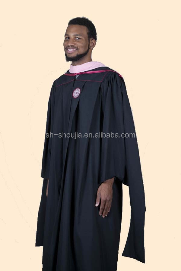 Black Graduation Gowns,Graduation Robes,Phd Dotorate Gowns - Buy ...