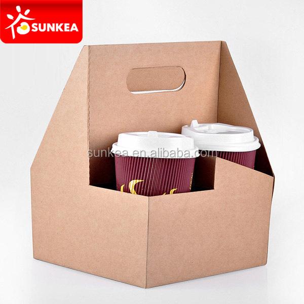 Durable Cardboard Takeaway Coffee Paper Cup Holder Buy