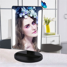 Top selling USB power portable folding vanity tabletop lighted cosmetic makeup mirror