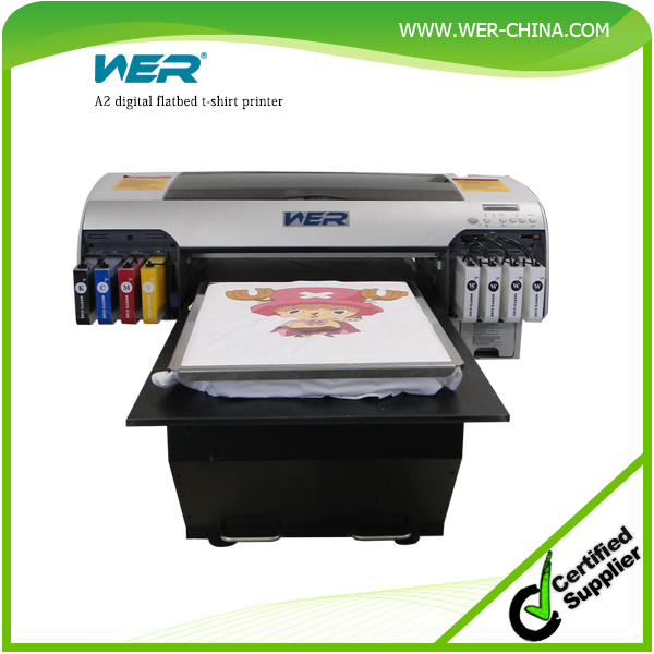 top-selling A2 WER-D4880 digital tshirt printer 5760 * 2880 dpi FREE rip software, digital t-shirt printing machine