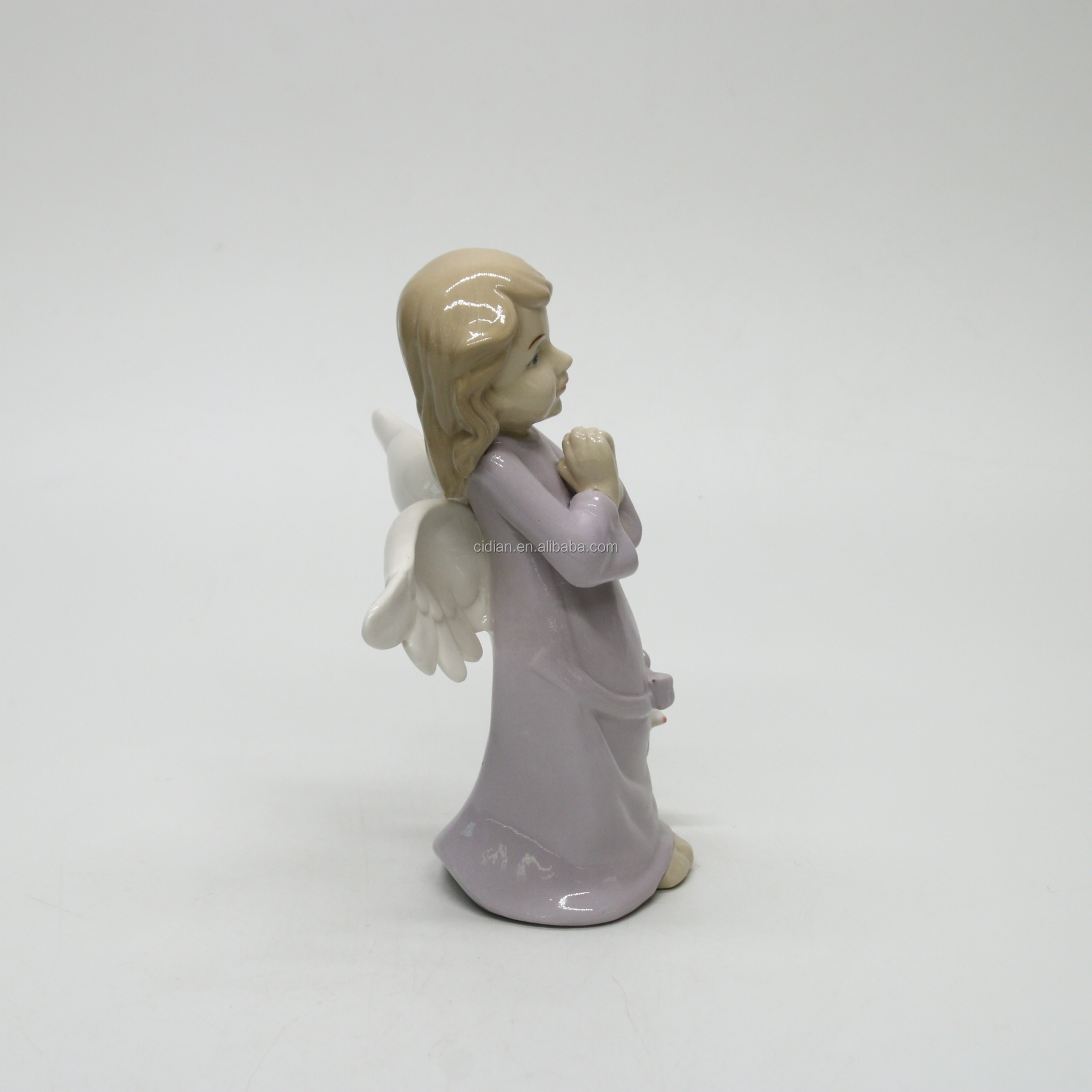 Pray porcelain angle standing figurines peace dove