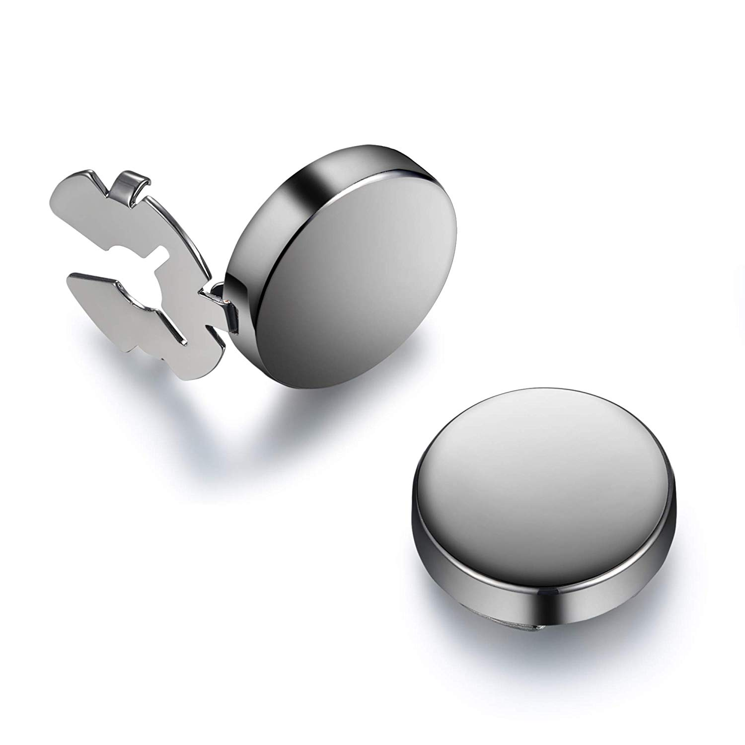 1b153308656 Get Quotations · BUTTONCUFF Classic Men's Button Covers - Cuff Link  Alternative for Tuxedo, Business or Formal Shirts