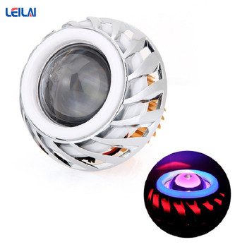 Raylight 12V Red Blue double 10W angel eyes headlight for Motorcycles