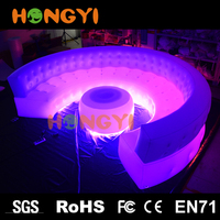 Color led sofa manufacturers custom living room props design sofa high quality round inflatable sofa