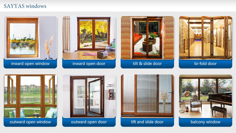 casement wooden windows with aluminum clading