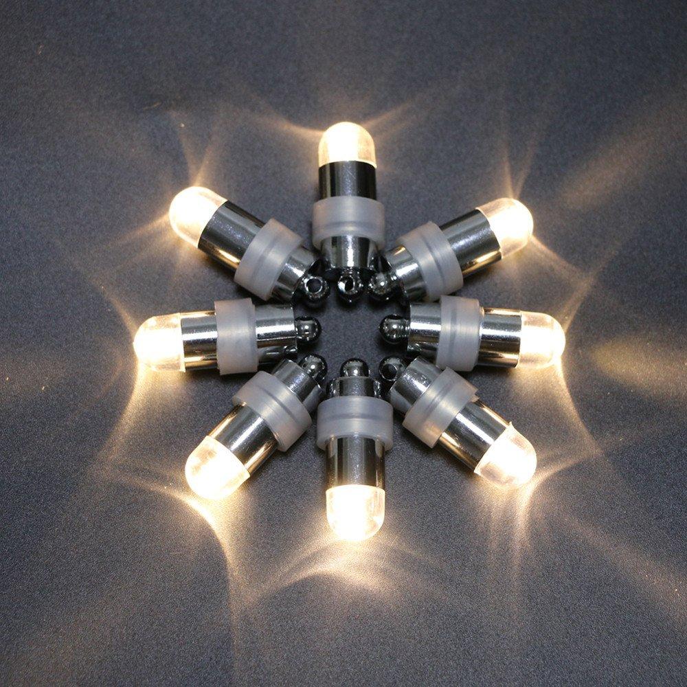 Acmee (Pack of 60) Warm Whtie Color Bright LED Water Poroof Mini Vase Light, LED Balloon Light ,LED Mini Party Light for Paper Lantern
