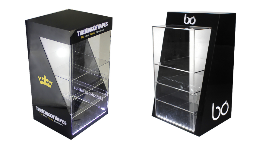 Custom POS E-liquid Display Stand E cigarette Display Rack/Counter E juice Display/Acrylic E liquid Display Case With 30 Pushers