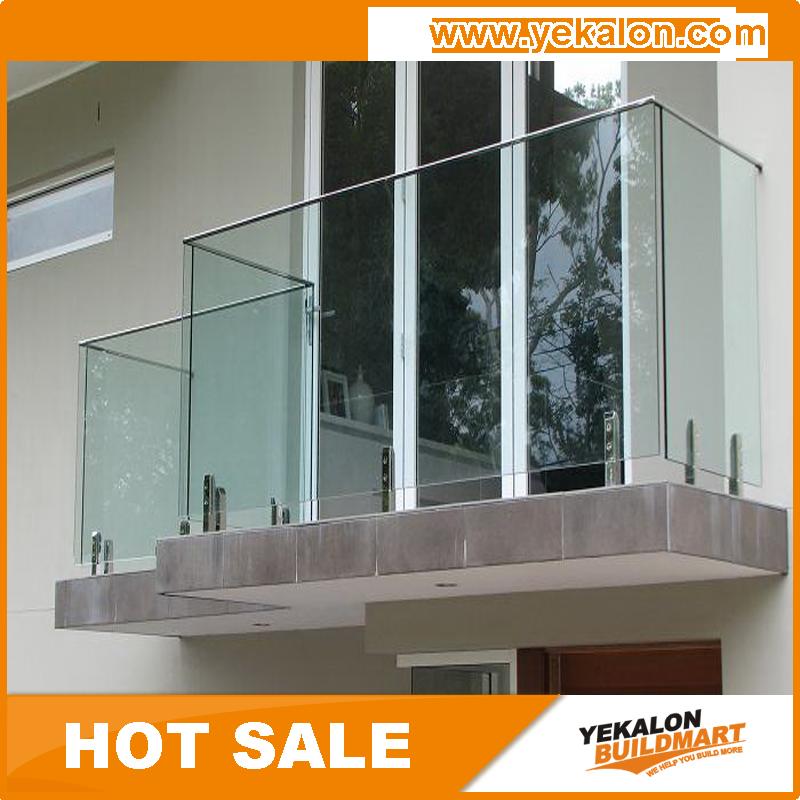 halb rahmenlose modernen langlebige aluminium glas terrasse gel nder modelle br stung und. Black Bedroom Furniture Sets. Home Design Ideas