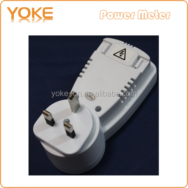 Ts-838 Uk Plug Energy Meter Plug 230v 16a Ac Kwh Consumption ...