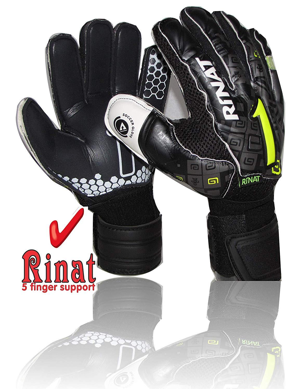 c9ece4120 Get Quotations · Rinat Goalkeeper Gloves Asimetrik Etnik OX2 Spine SEM AD  (Black Size