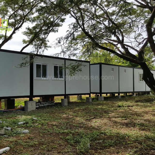 China casas prefabricadas de panel sandwich container shelter 40ft for fiji prefab houses