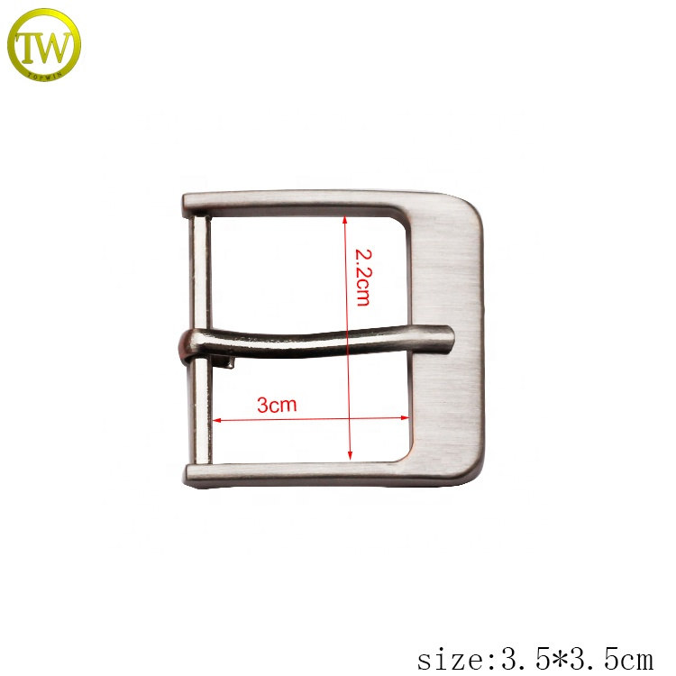 wholesale 30mm brush nickle alloy design casting pin belt buckle for man