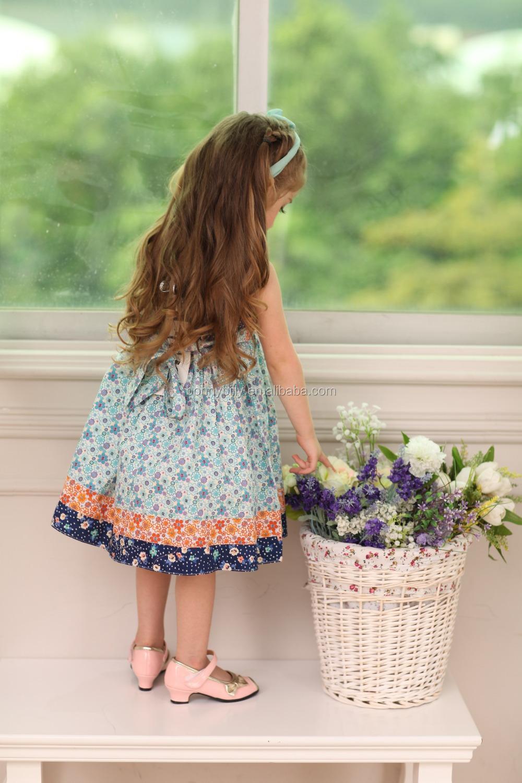 vintage design hanging neck baby summer dress