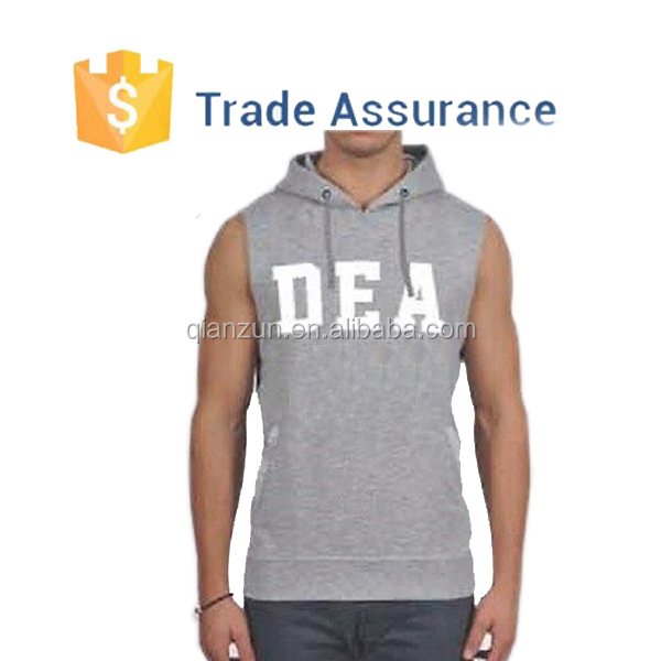 2015 Best Quality Custom Print Mens Fashion Sleeveless Hoodie,Wholesale Sleeveless Hoodies Pullover Hoodies For Men