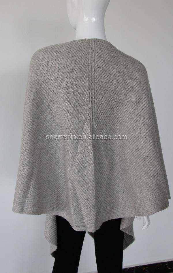 100 Pure Womens Cashmere Pashmina Knitting Pattern Poncho Buy