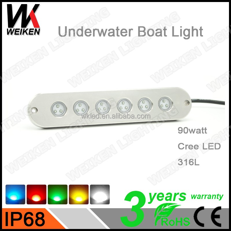 Mini Led Pool Light 90W Boat Yatch Marine Submersible Underwater Lighting Fountains Swimming Pools Led Aquarium Lights